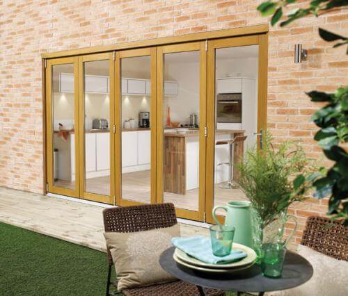 Bifold doors external folding sliding glass patio doors for Fold out patio doors