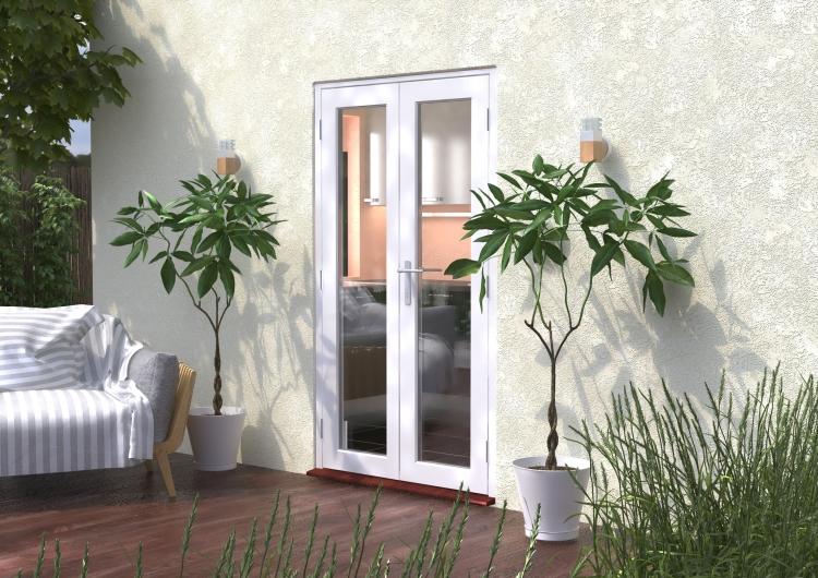1200mm (4ft) Classic White French Doors - Climadoor & 1200mm Classic White Wooden French Doors - CLIMADOOR | Vibrant Doors
