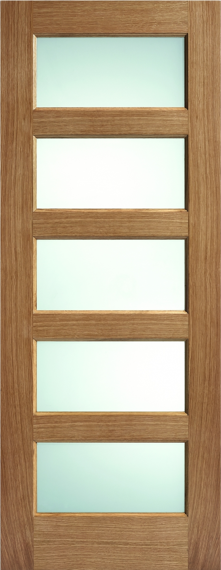 Oak Contemporary 5L Glazed - Frosted Prefinished