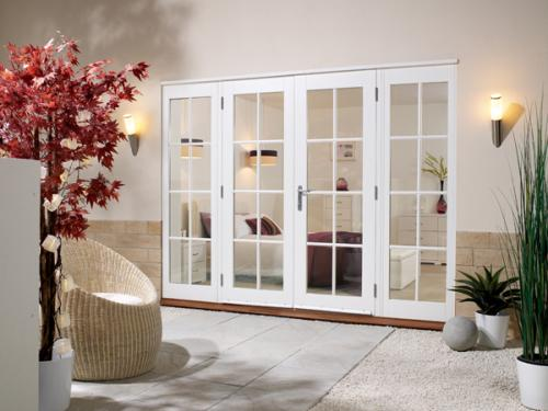 Softwood White French Doors 8 Lite Vibrant Doors