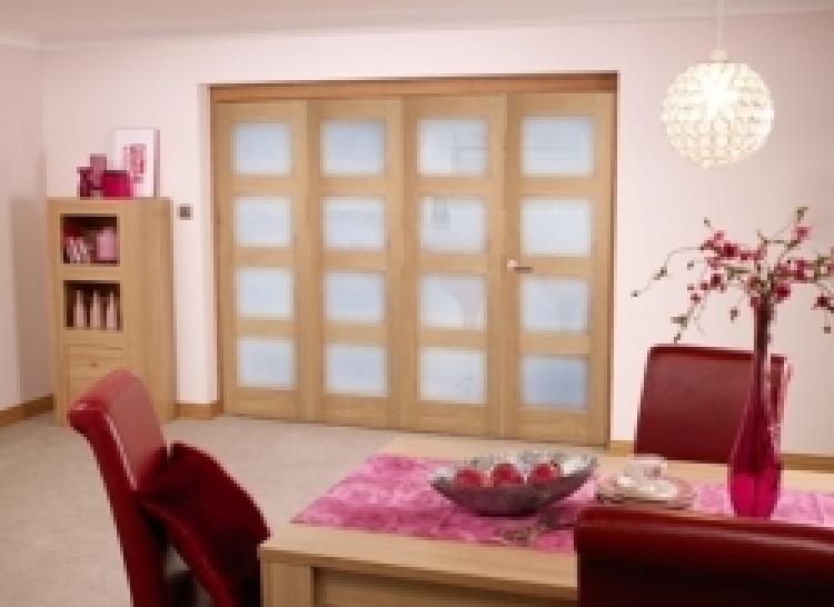2370 X 2078mm Oak Prefinished 4l Interior Bifold Door 2400mm 8ft