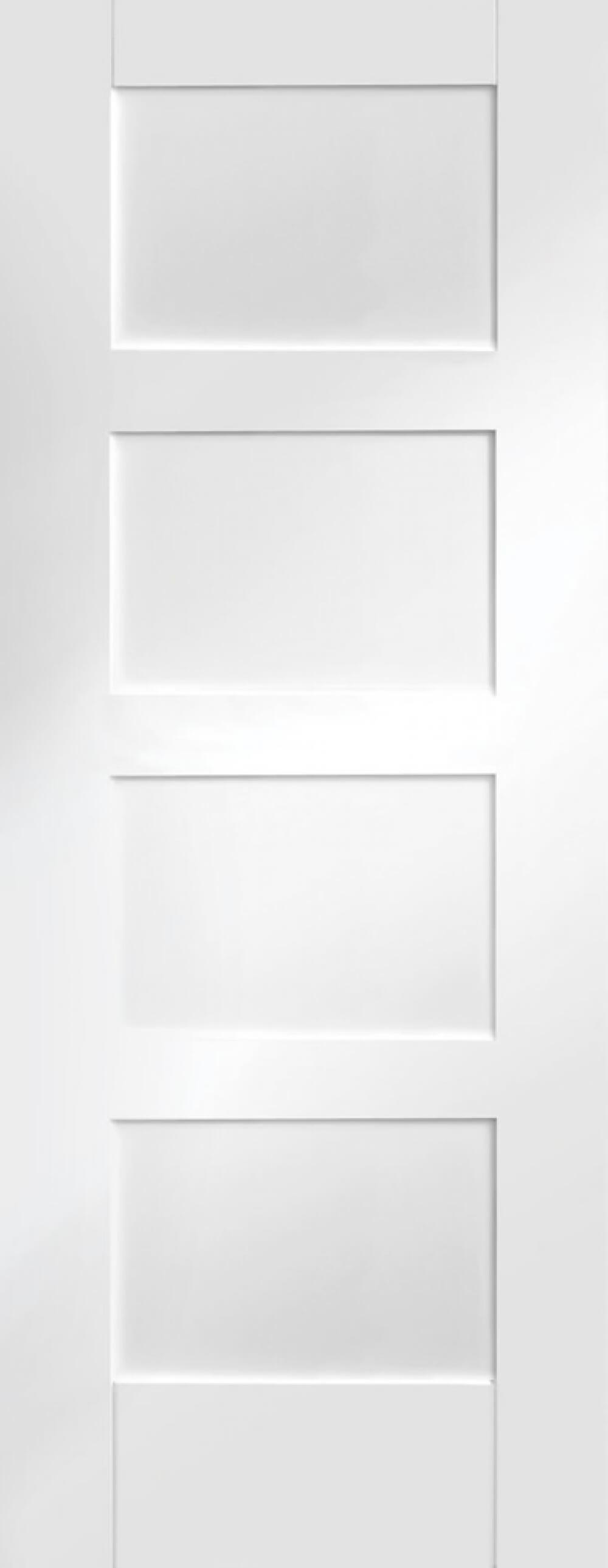 4 Panel White Shaker Door