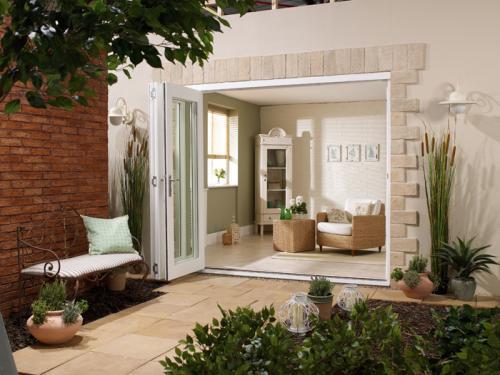 1800mm 6ft 3 door lpd nuvu white folding doors for 6 ft wide patio doors