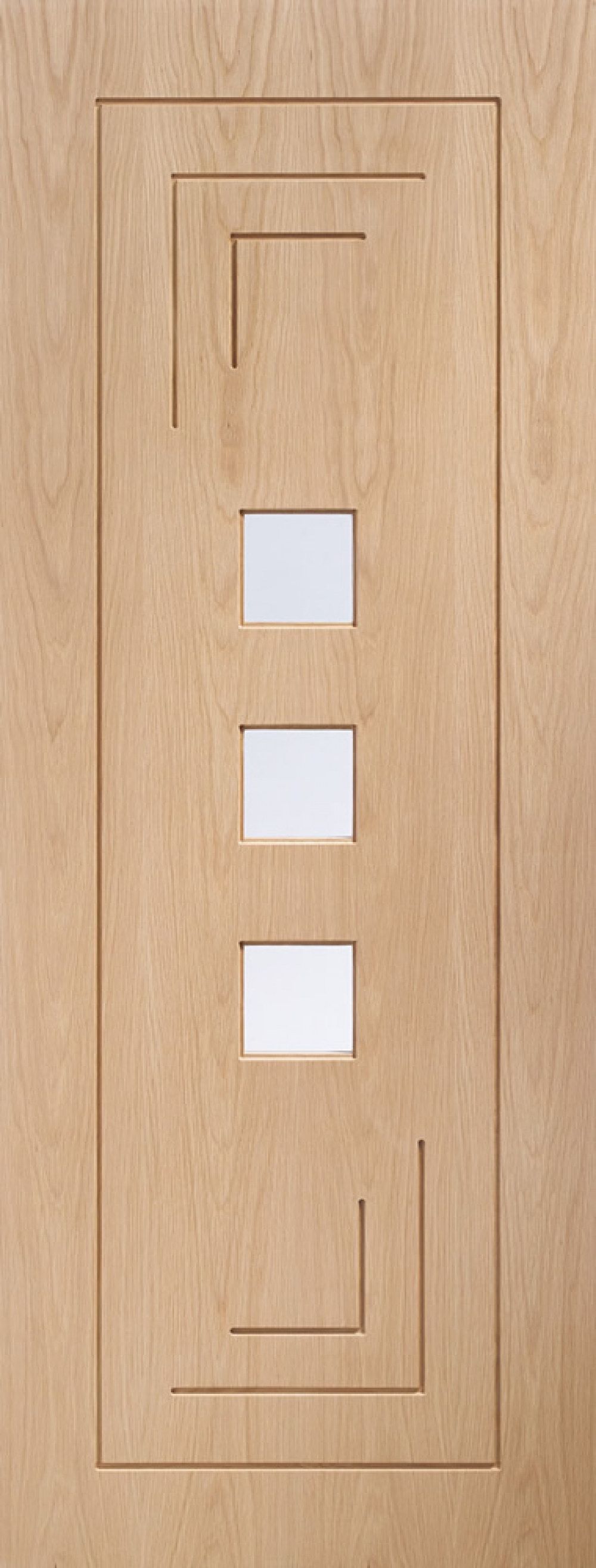 Altino Oak Glazed Door - PREFINISHED