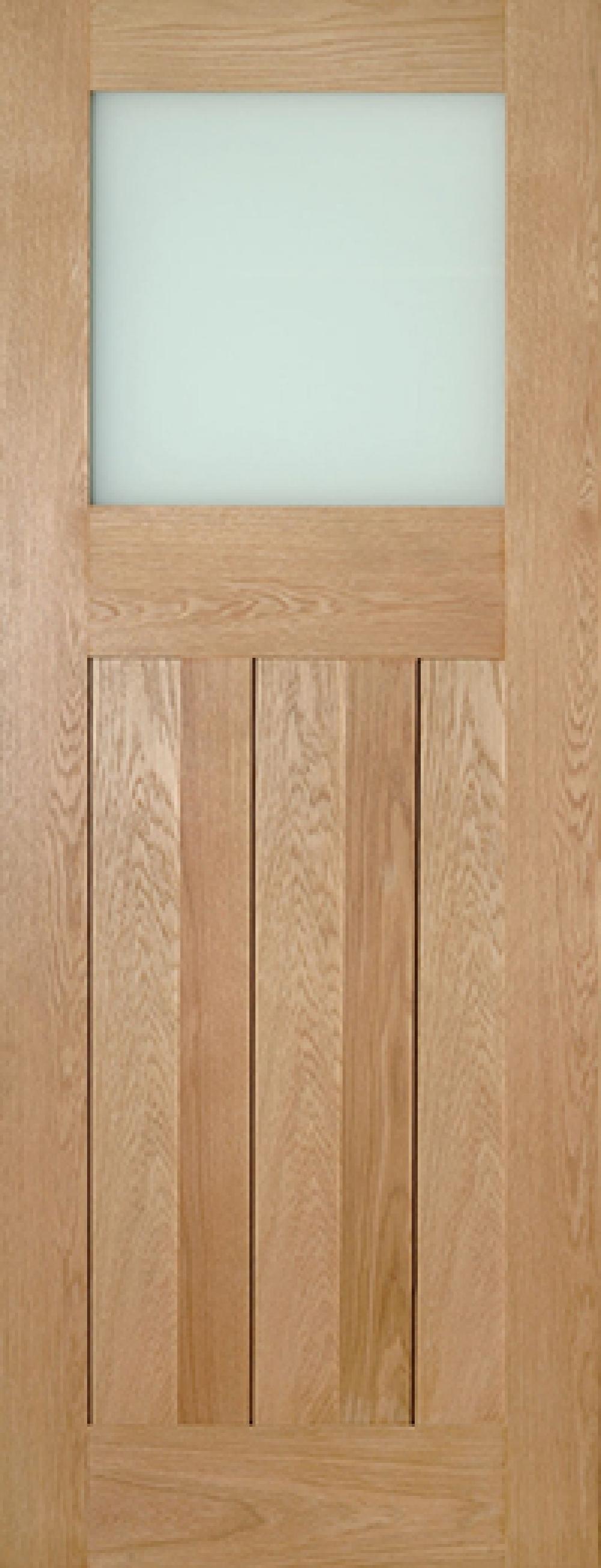 Cambridge Glazed Oak Door - Frosted Glass