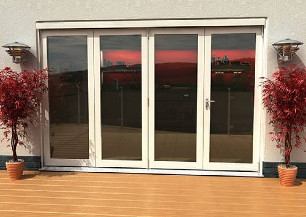Classic White External Bifold Doors: White Folding Doors By Climadoor