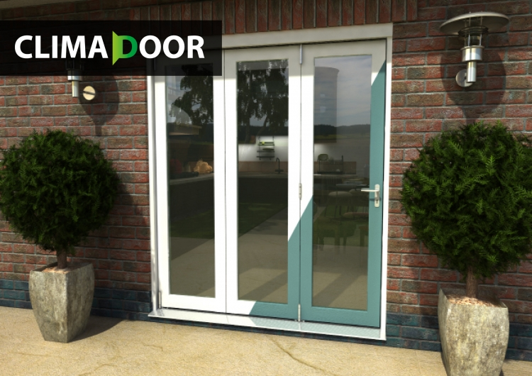 1800mm 6ft 3 door select white primed bifold doors for 6 ft wide patio doors