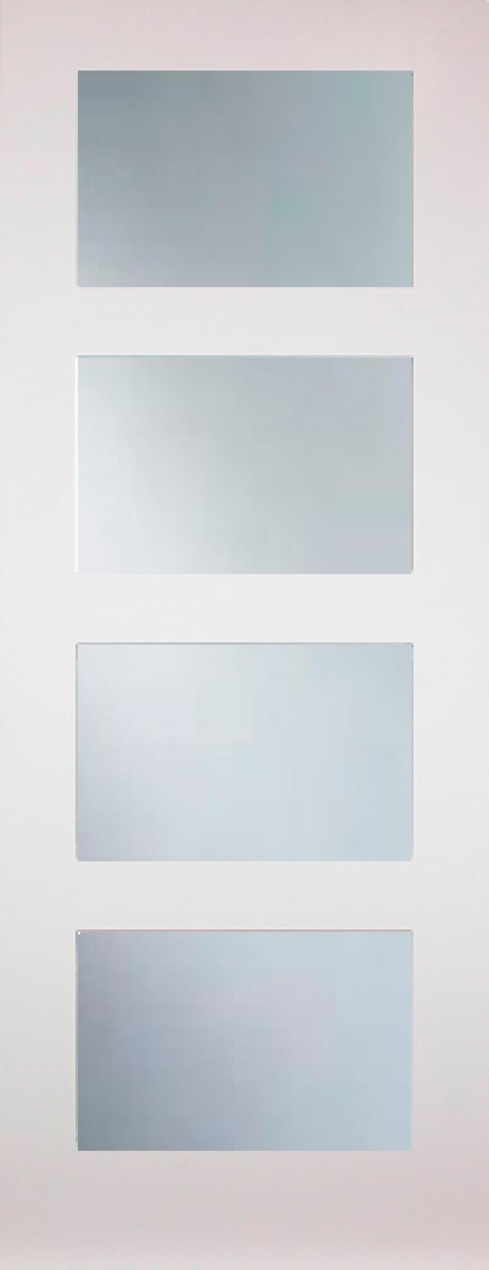 Coventry White 4 Light Clear Glazed Door