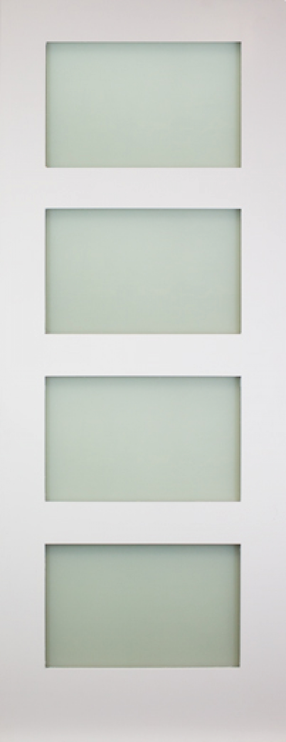 Coventry White 4 Light Frosted Glass Door