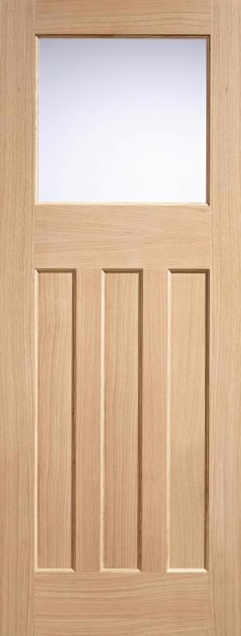 DX 30's Style Oak Door Frosted