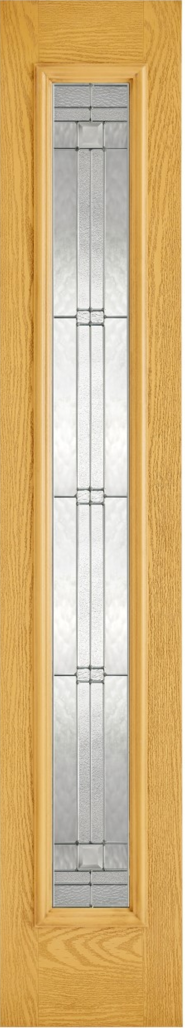 Elegant Oak Glazed Composite Sidelight