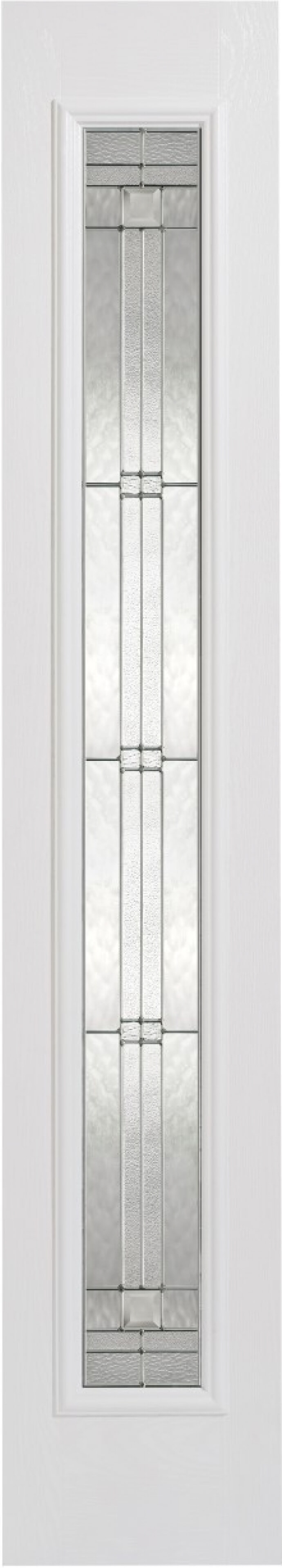 Elegant White Glazed Composite Sidelight