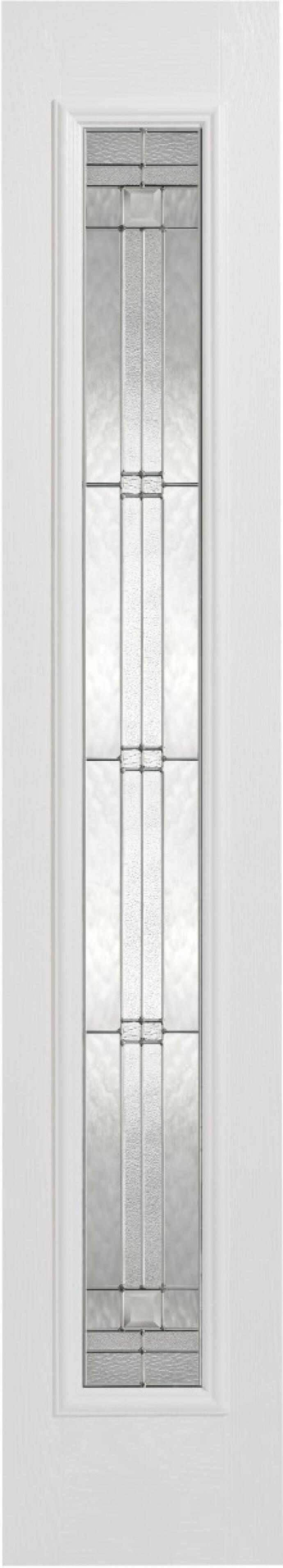 Elegant White Glazed Composite Sidelight