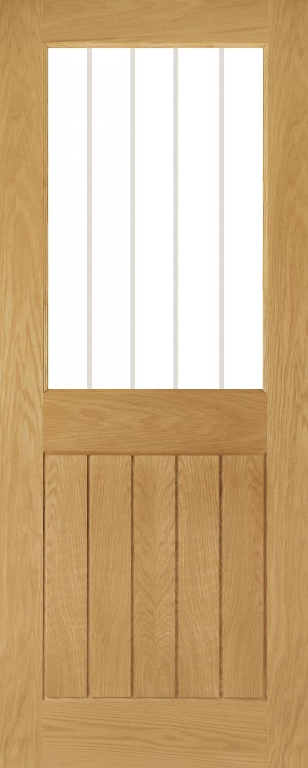 Ely Clear Glazed Prefinished Oak Door