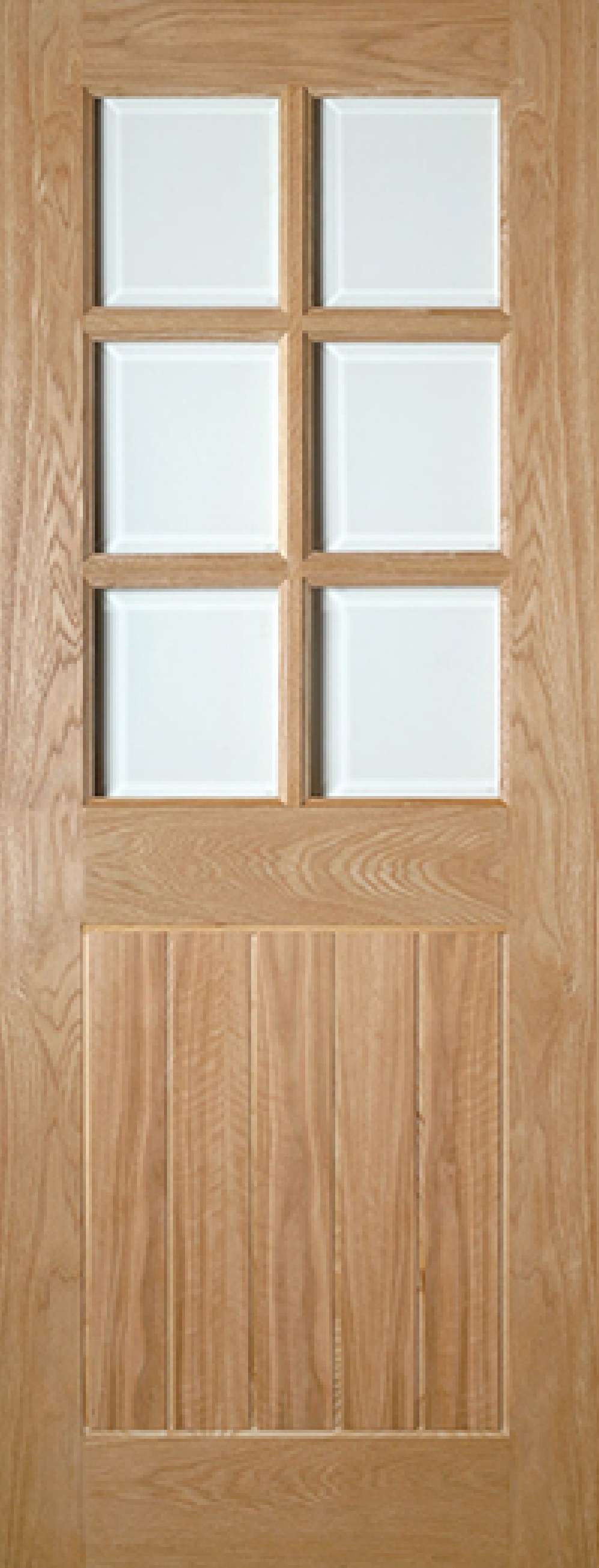 Ely Glazed Oak Door - Prefinished