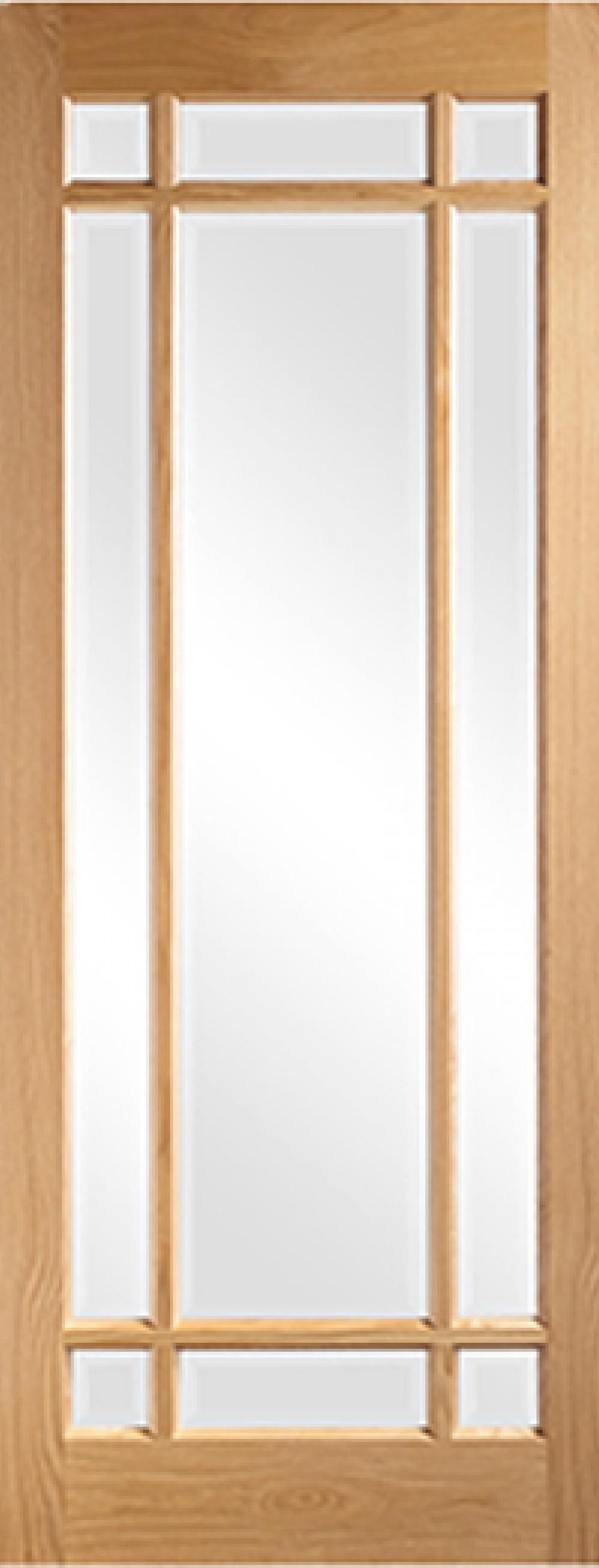 Glazed Door kerry glazed oak interior glazed doors, bevelled glass | vibrant doors