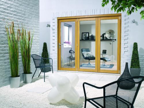1800mm 6ft 3 door lpd nuvu oak folding patio doors for 6 ft sliding glass patio door