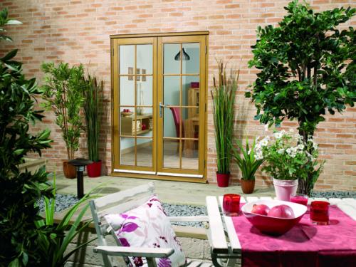 Oak french doors 8 lite from vibrant doors for Oak french doors external