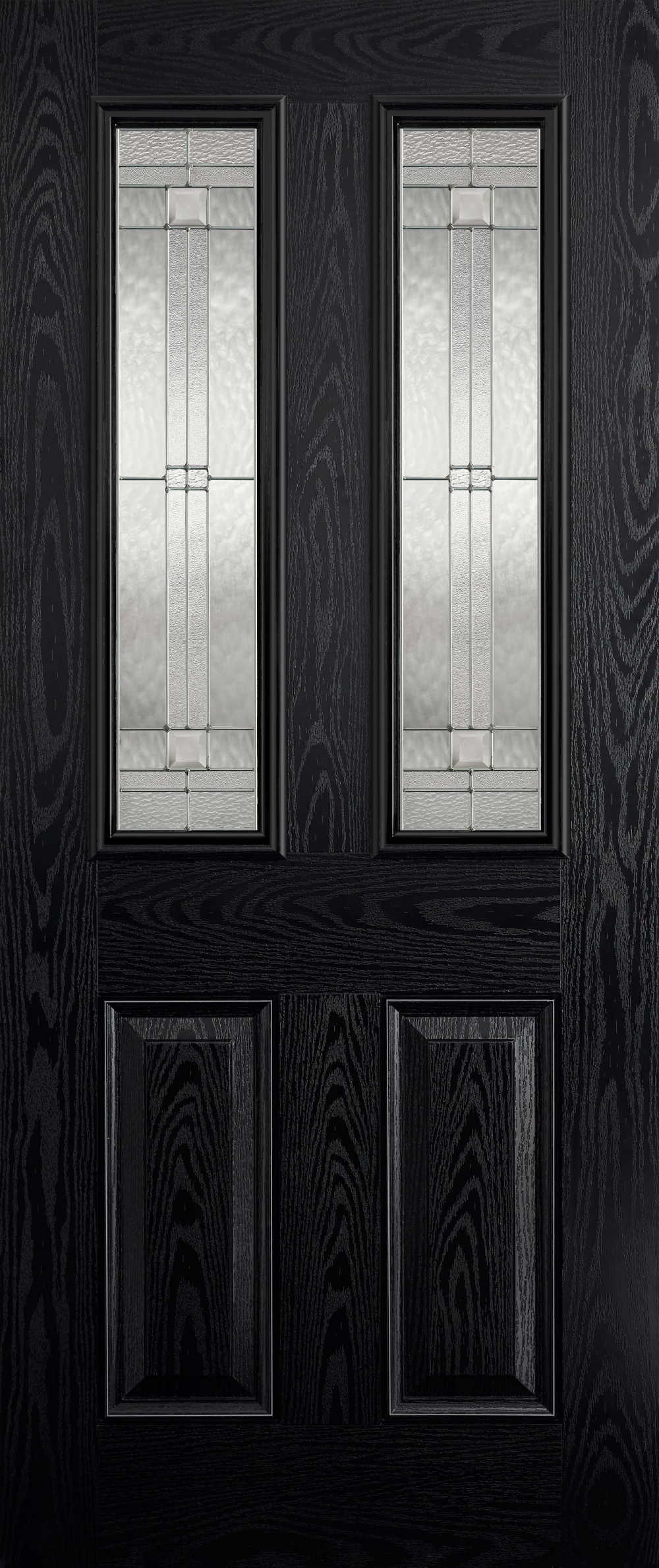 Malton Black Glazed Composite Door