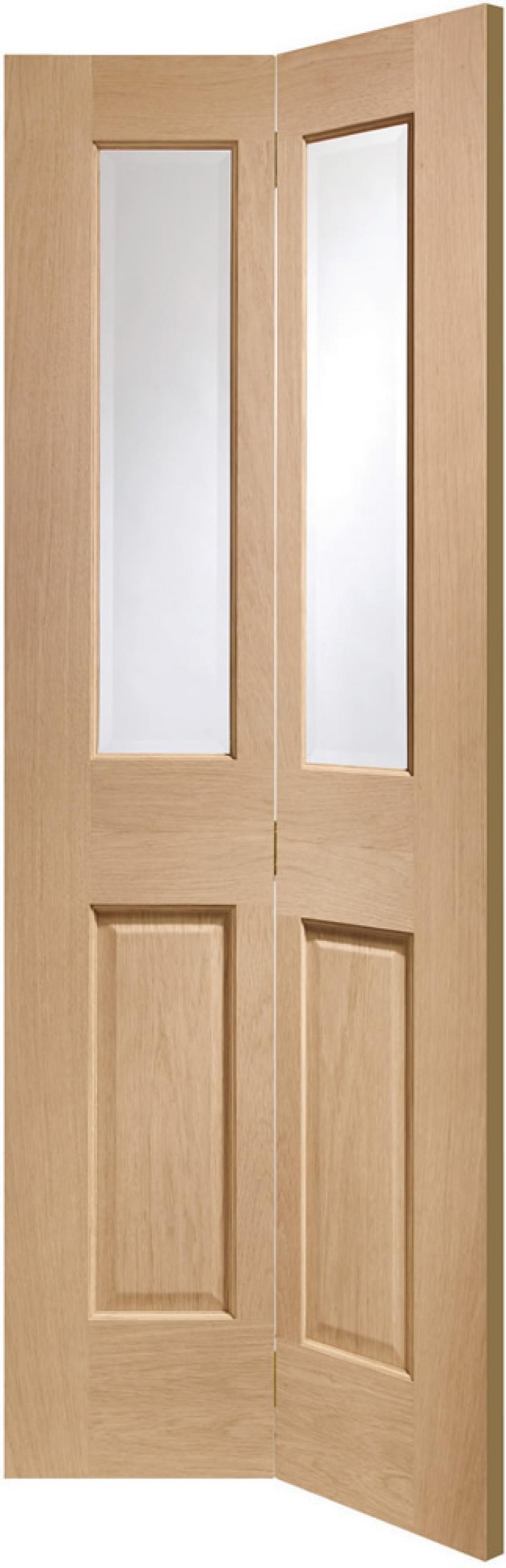 Malton Oak Glazed Bifold Door