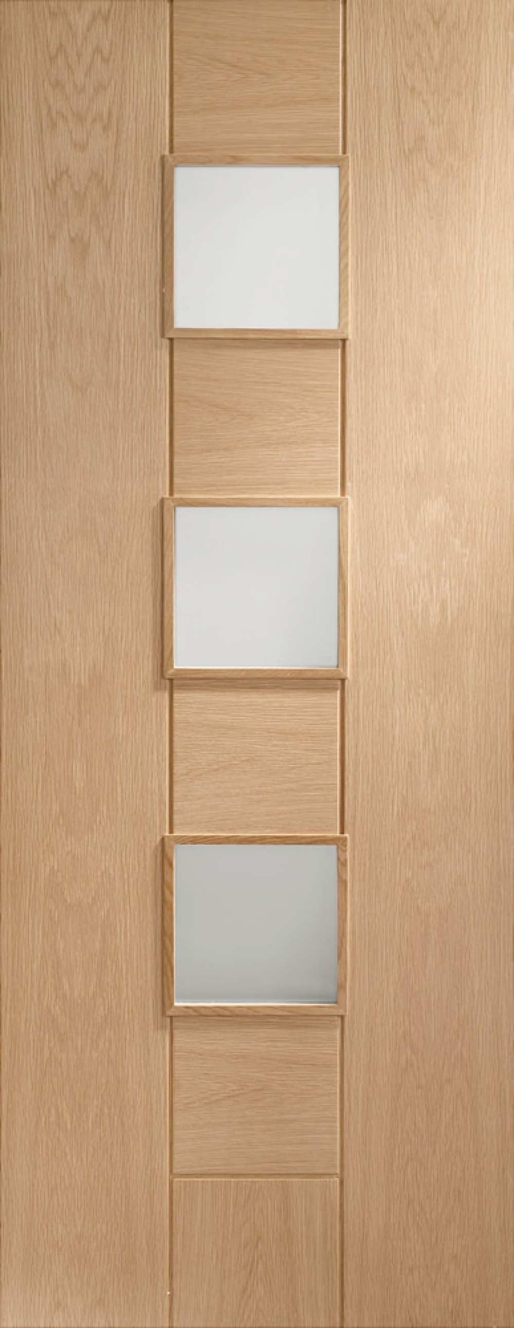 Messina Oak Glazed Door - Obscure