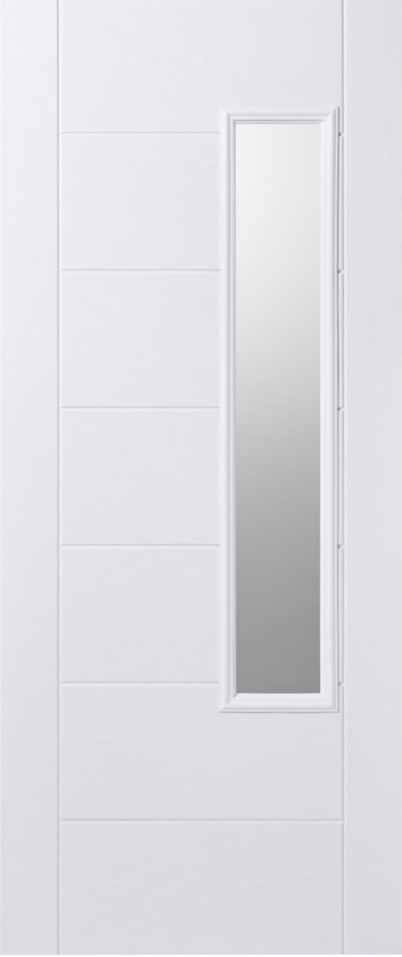 Newbury White Glazed Composite Door