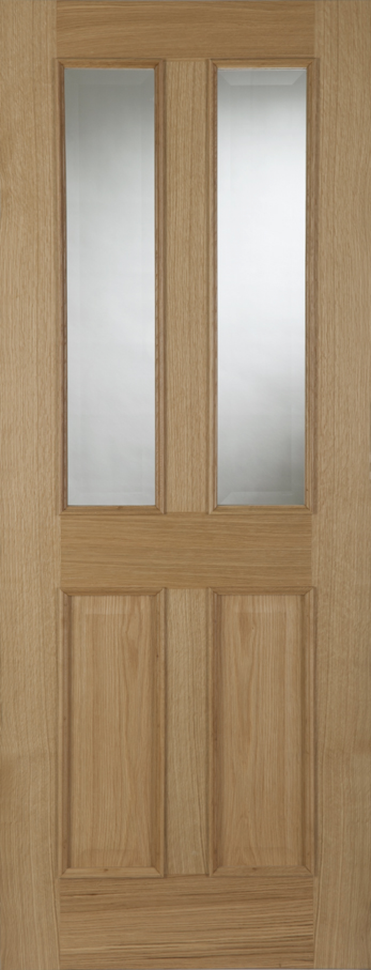 Oak Oxford 2 Light - Unglazed FD30 - RM2S