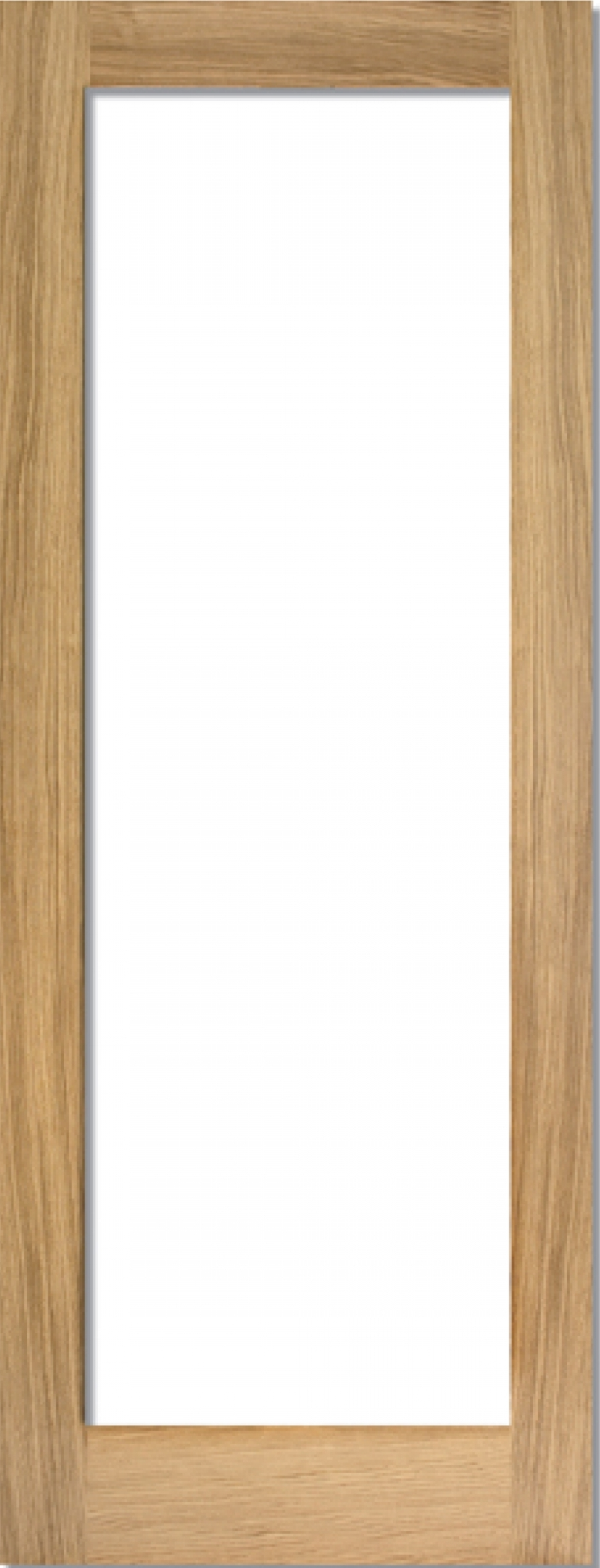 Oak Shaker 1 Light Clear Prefinished