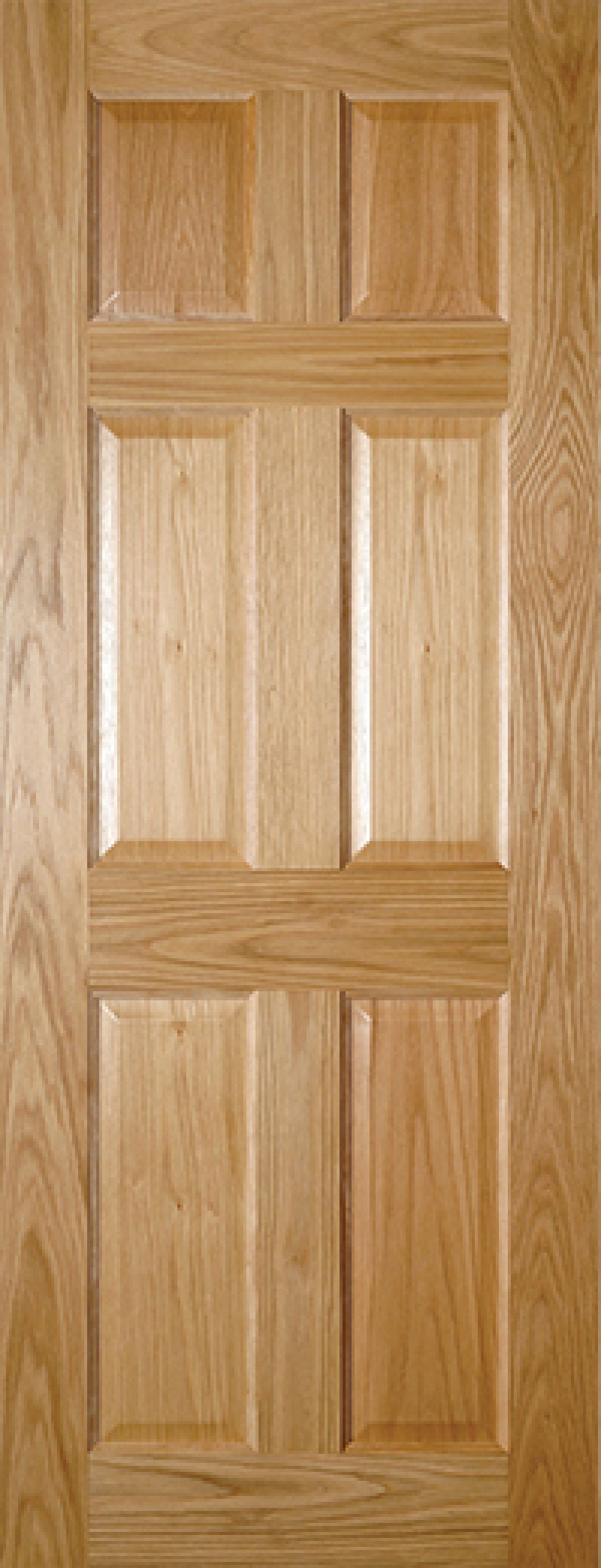 Oxford 6 panel oak door prefinished oak doors vibrant doors Solid wood six panel interior doors