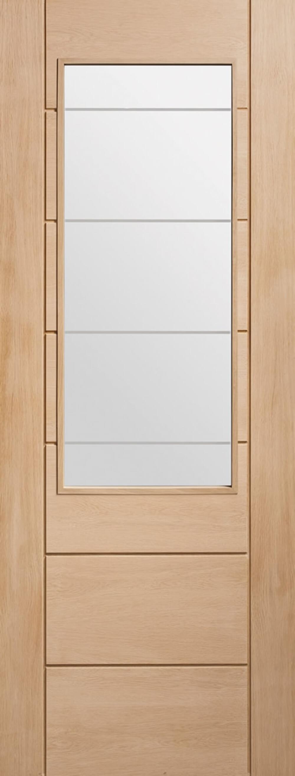 Palermo Oak 2Xg Glazed Door