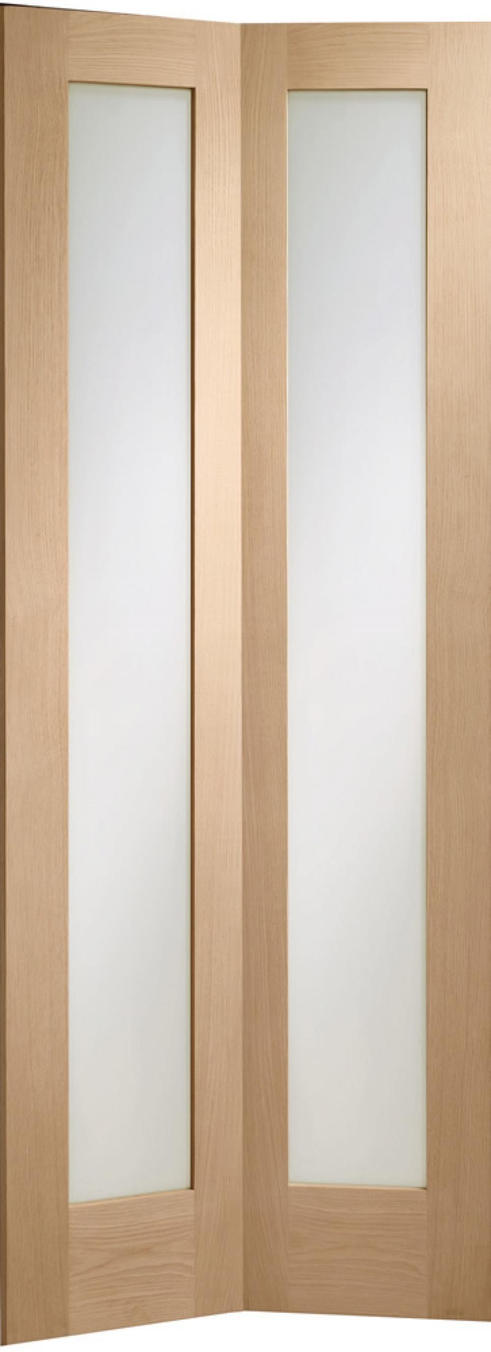 Pattern 10 Oak Bifold Glazed Door