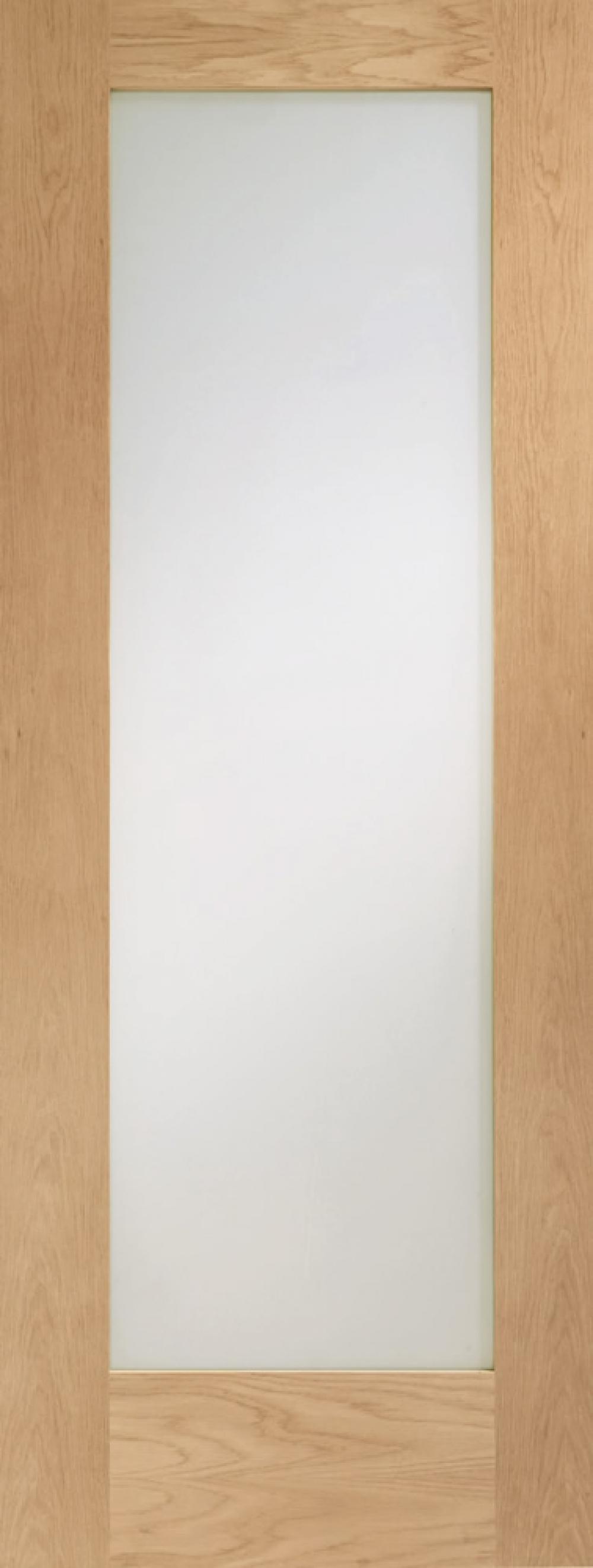 Pattern 10 Oak Glazed Door - Frosted PREFINISHED