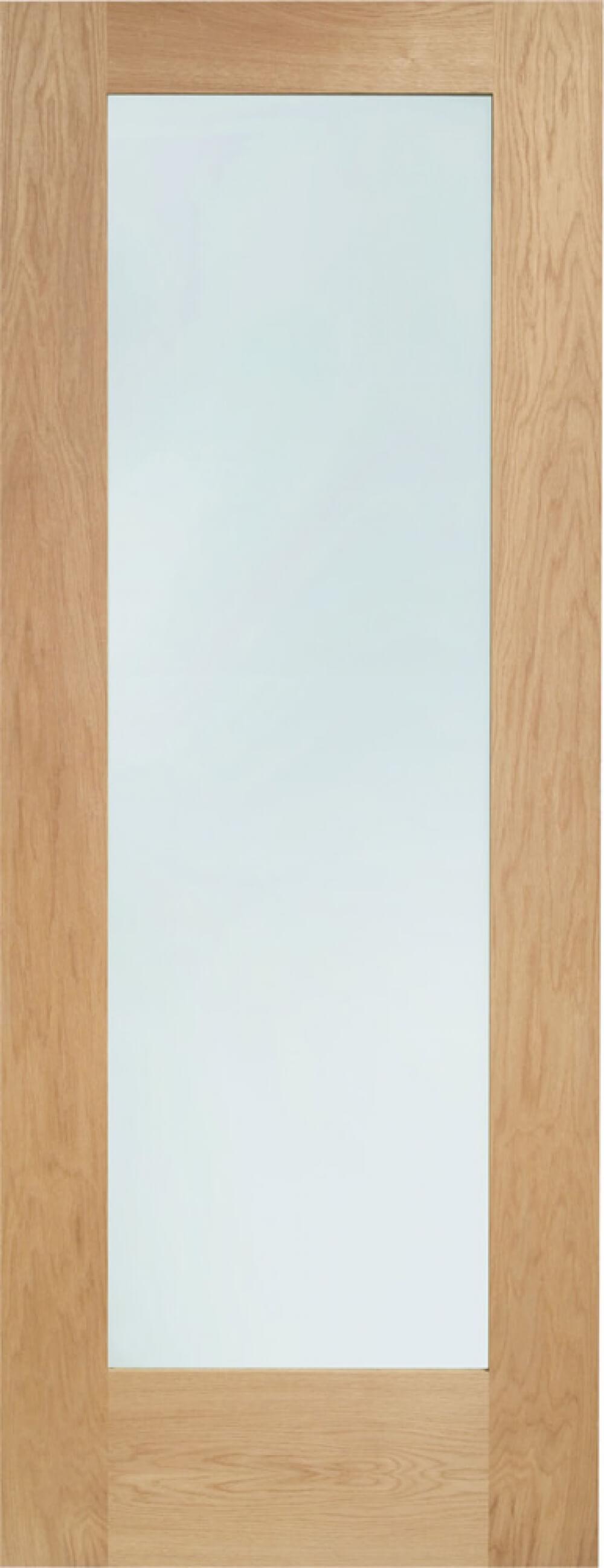 Pattern 10 Oak Glazed Door