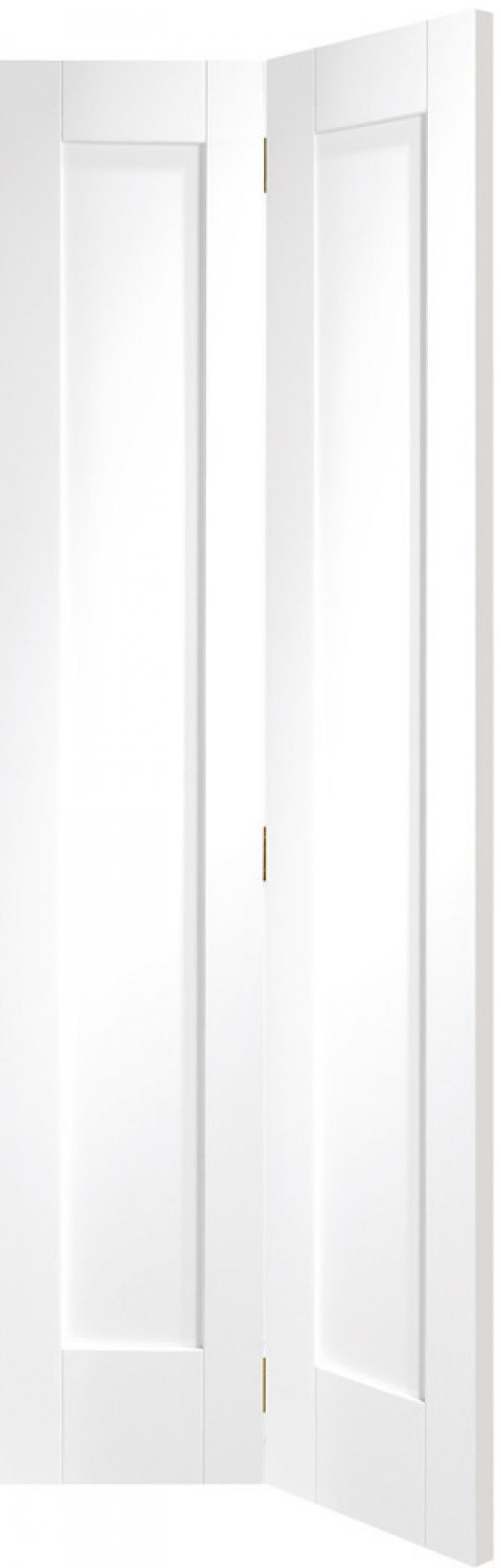 Pattern 10 White 1 Panel Bifold Door