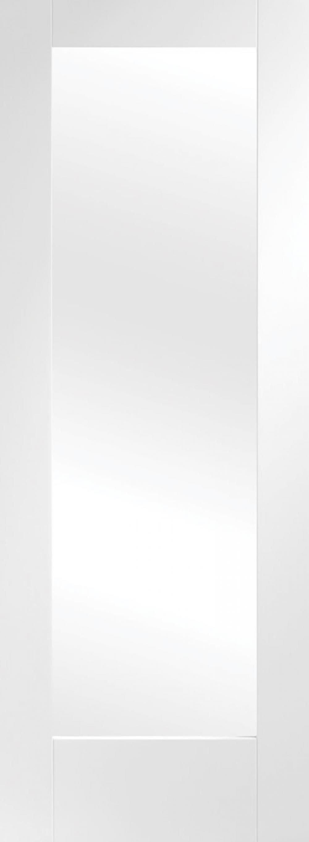 Pattern 10 White Glazed  Door - Obscure
