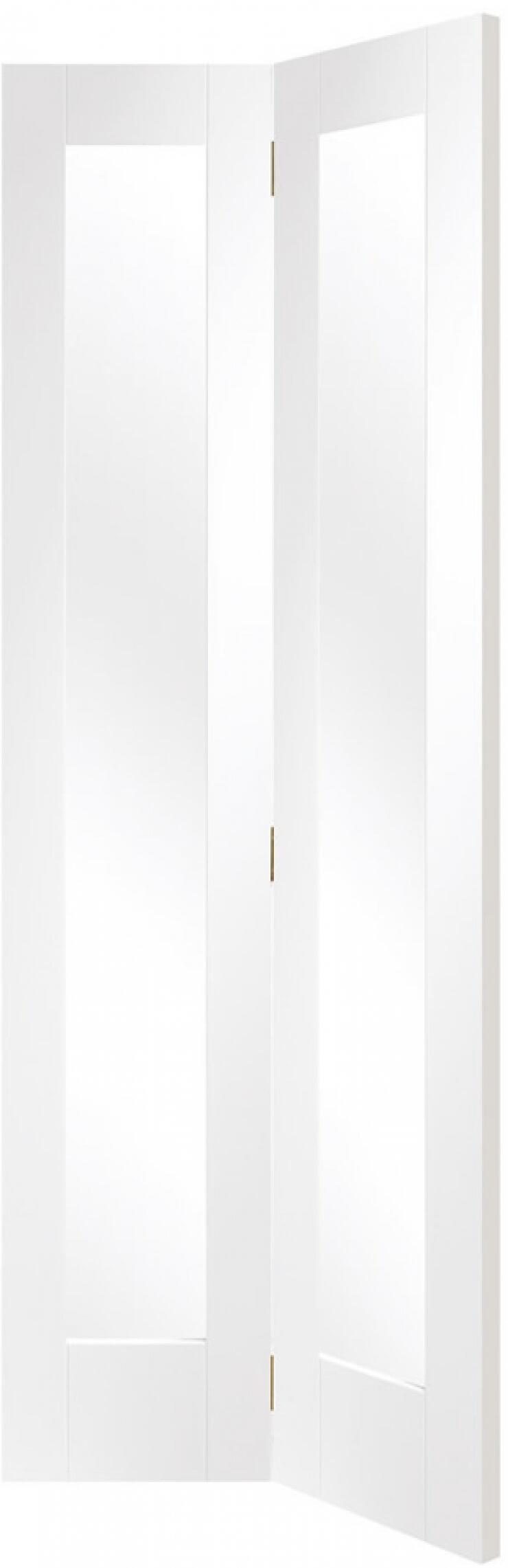 Pattern 10 White Glazed Bifold Door