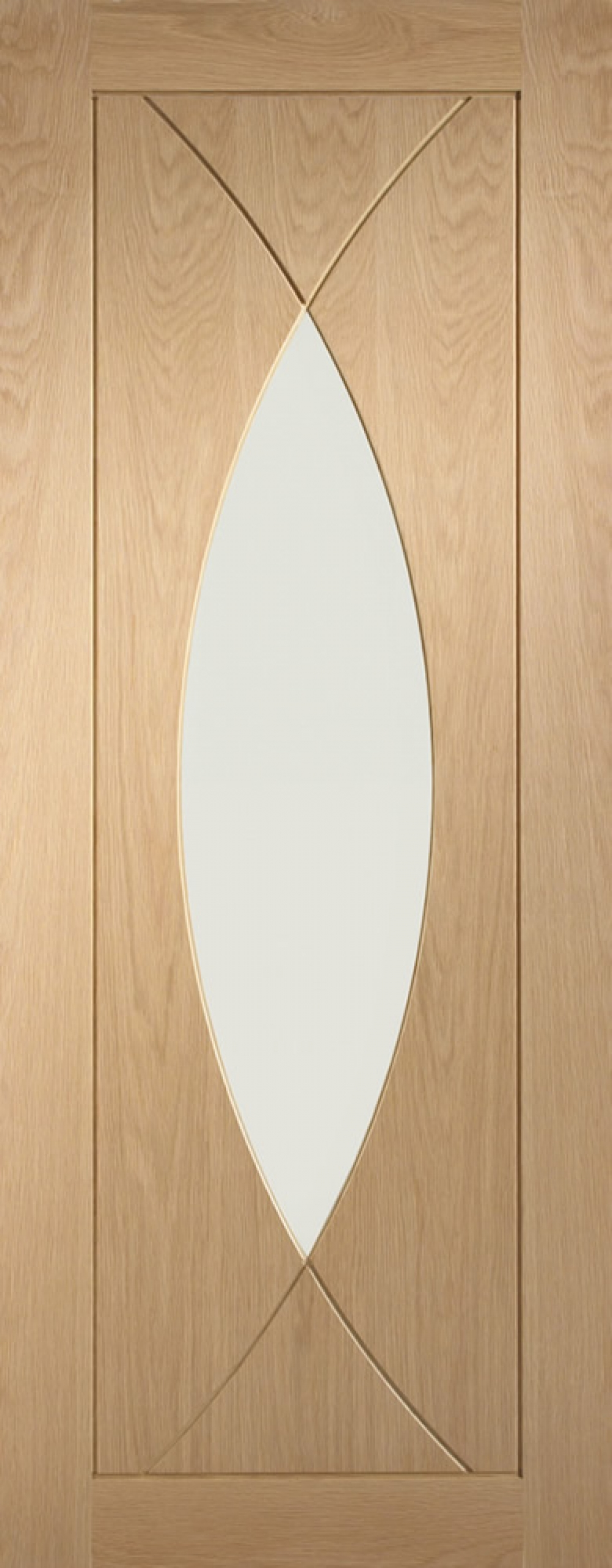 Pesaro Oak Glazed Door