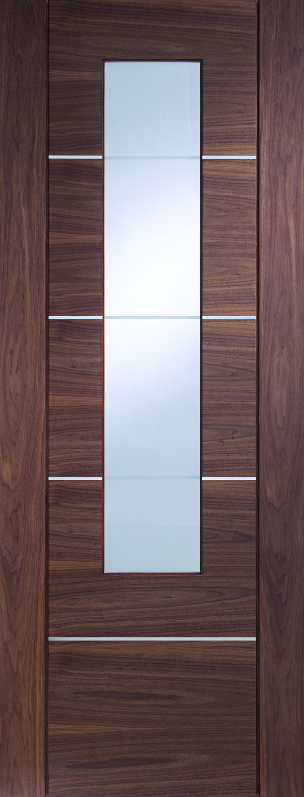 Portici Walnut Glazed Door - PREFINISHED