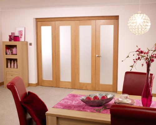 Porto Prefinished Oak Bifold Door Range: Internal Folding Sliding Doors Image