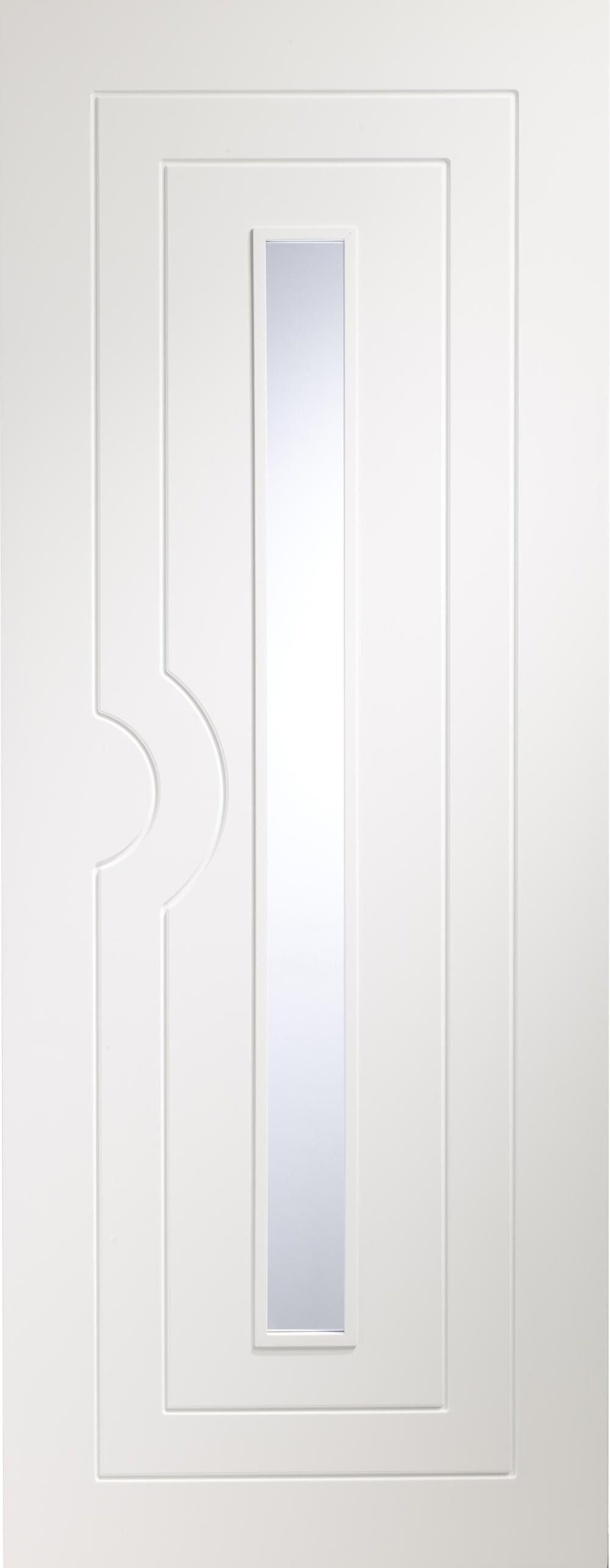 Potenza White Glazed Door - PREFINISHED