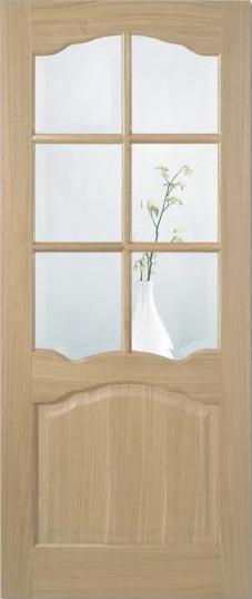 Riviera 6L Glazed Oak Door