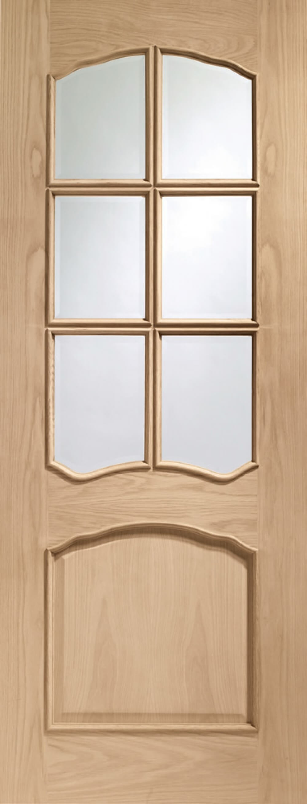 Riviera Oak Glazed Door Rm2S - Xl - PREFINISHED