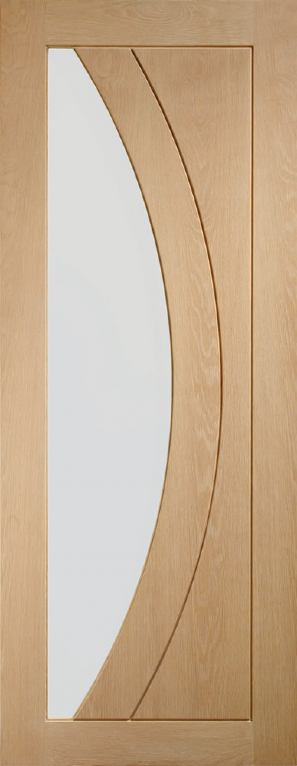 Salerno Oak Glazed Door - PREFINISHED