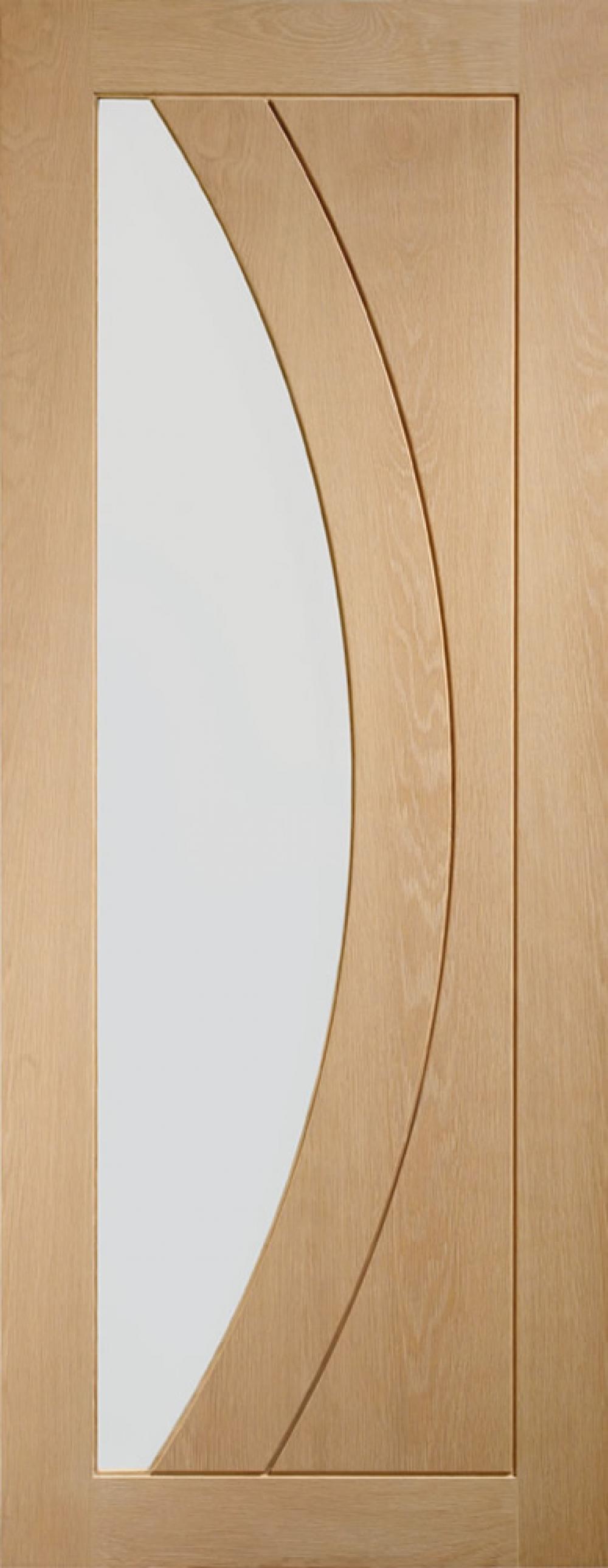 Salerno Oak Glazed Door - PREFINISHED