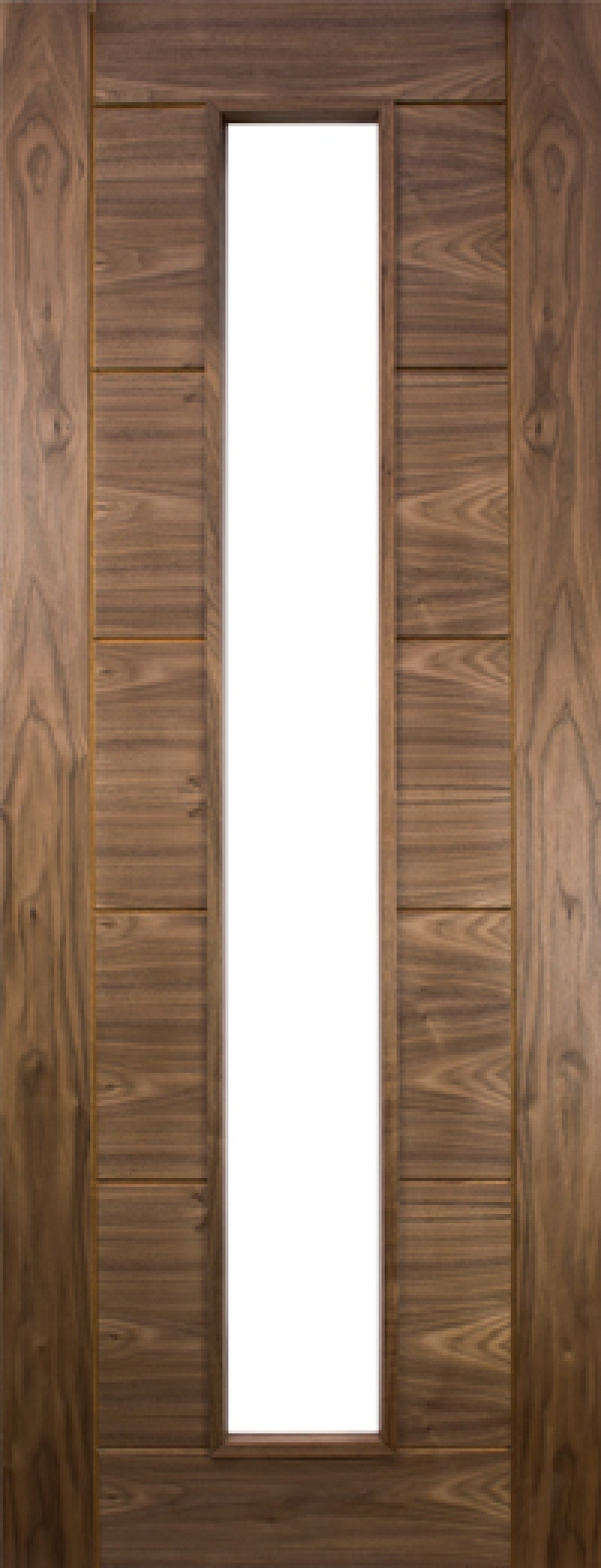 Seville Walnut Unglazed Door - Prefinished