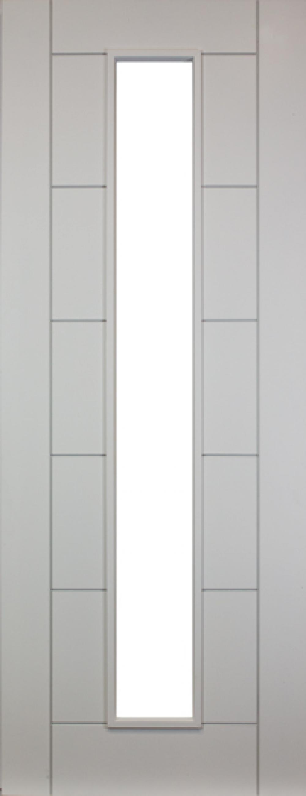 Seville White Primed Unglazed Door