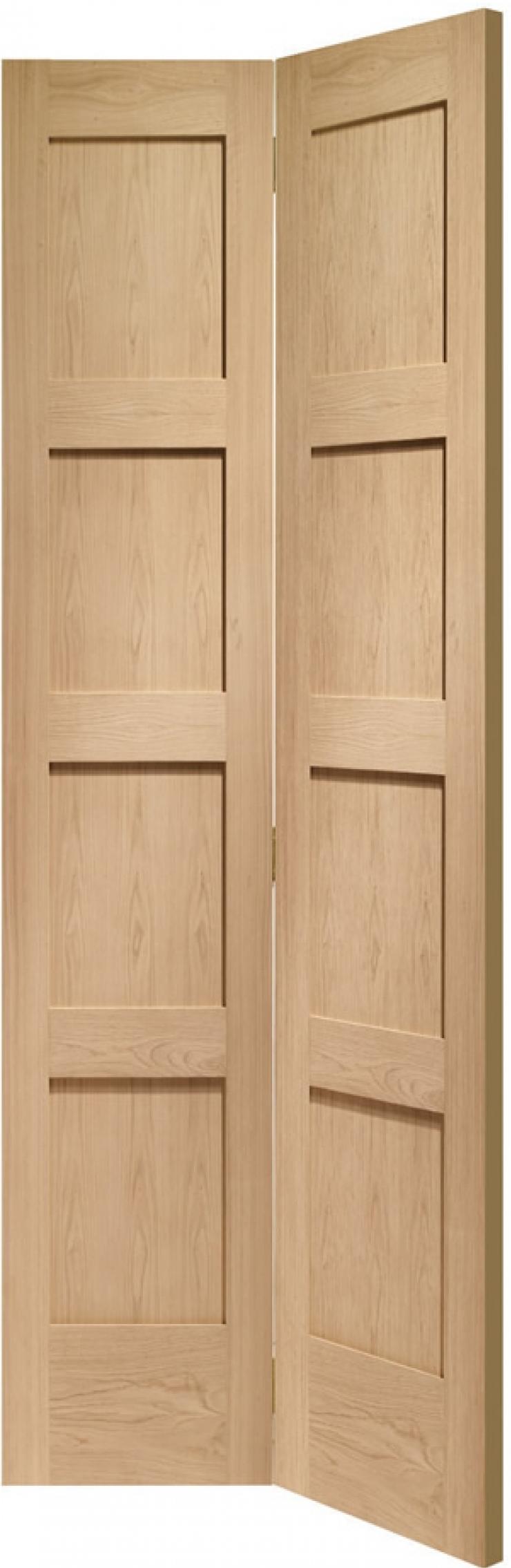 Shaker 4 Panel Oak Bifold Door
