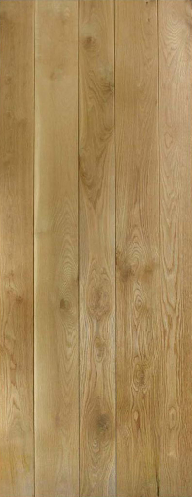 Solid Oak Framed & Ledged Door