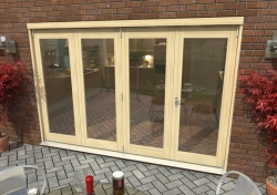 3000mm ( 10ft ) Tradesman Bifold Doors: External 44mm Un-Finished Treated Clear Pine Folding Door Image