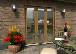 CLIMADOOR Solid Oak Bifold Door 1800mm (6ft) : 54mm Fully Finished Doorset Image